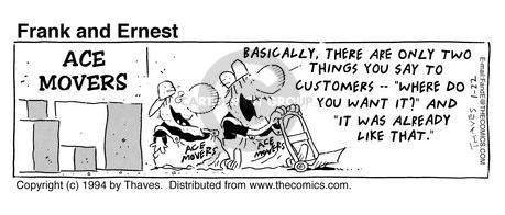 Comic Strip Bob Thaves Tom Thaves  Frank and Ernest 1994-01-22 employee