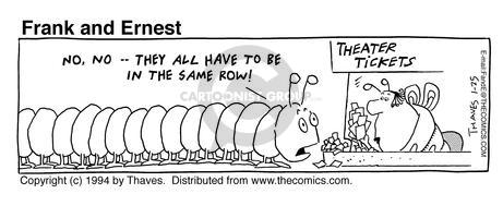 Comic Strip Bob Thaves Tom Thaves  Frank and Ernest 1994-01-25 theater