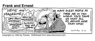 Comic Strip Bob Thaves Tom Thaves  Frank and Ernest 1994-02-02 coverage
