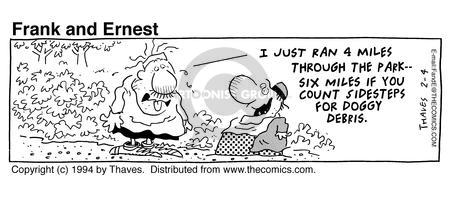 Cartoonist Bob Thaves Tom Thaves  Frank and Ernest 1994-02-04 trail