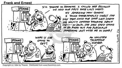 Cartoonist Bob Thaves Tom Thaves  Frank and Ernest 1994-02-06 affect