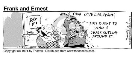 Comic Strip Bob Thaves Tom Thaves  Frank and Ernest 1994-02-10 love life