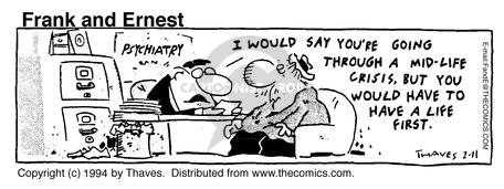 Comic Strip Bob Thaves Tom Thaves  Frank and Ernest 1994-02-11 going