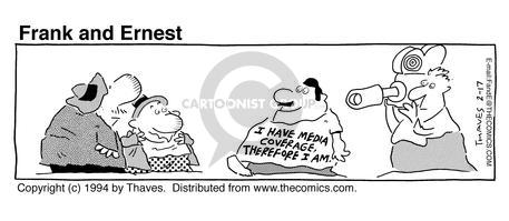 Comic Strip Bob Thaves Tom Thaves  Frank and Ernest 1994-02-17 cameraman