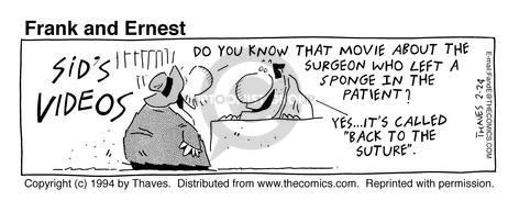 Cartoonist Bob Thaves Tom Thaves  Frank and Ernest 1994-02-24 counter