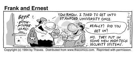 Cartoonist Bob Thaves Tom Thaves  Frank and Ernest 1994-03-01 tech