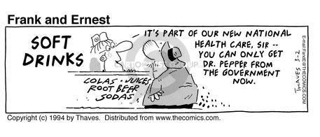 Comic Strip Bob Thaves Tom Thaves  Frank and Ernest 1994-03-02 involvement
