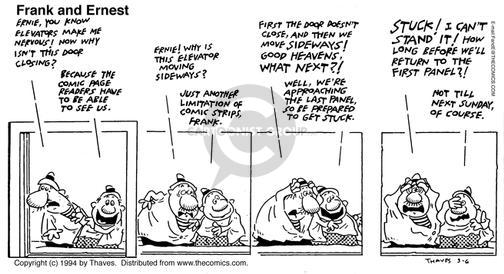 Comic Strip Bob Thaves Tom Thaves  Frank and Ernest 1994-03-06 prepare
