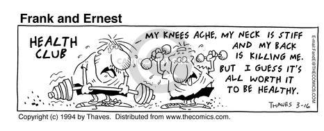 Cartoonist Bob Thaves Tom Thaves  Frank and Ernest 1994-03-16 ache
