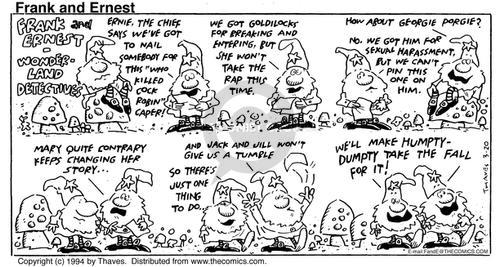 Comic Strip Bob Thaves Tom Thaves  Frank and Ernest 1994-03-20 fall