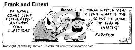 Comic Strip Bob Thaves Tom Thaves  Frank and Ernest 1994-03-23 letter