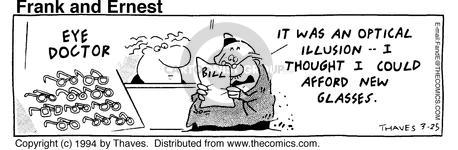 Comic Strip Bob Thaves Tom Thaves  Frank and Ernest 1994-03-25 optometry
