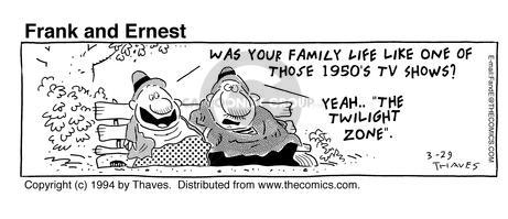 Comic Strip Bob Thaves Tom Thaves  Frank and Ernest 1994-03-29 yeah