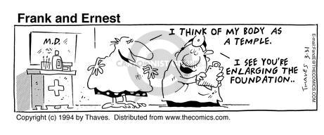 Comic Strip Bob Thaves Tom Thaves  Frank and Ernest 1994-03-31 body