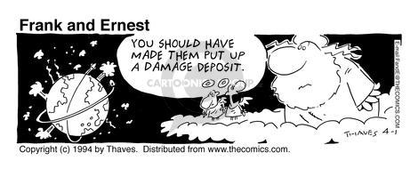 Comic Strip Bob Thaves Tom Thaves  Frank and Ernest 1994-04-01 damage