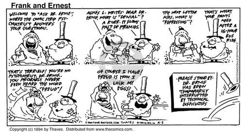 Comic Strip Bob Thaves Tom Thaves  Frank and Ernest 1994-04-03 hear