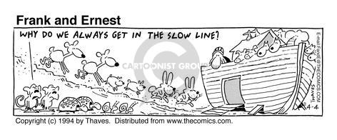 Comic Strip Bob Thaves Tom Thaves  Frank and Ernest 1994-04-04 wildlife