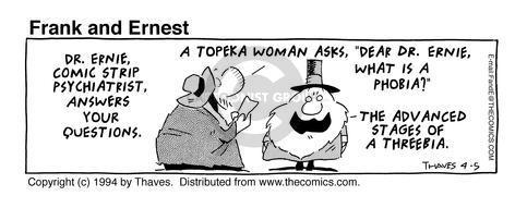Comic Strip Bob Thaves Tom Thaves  Frank and Ernest 1994-04-05 letter