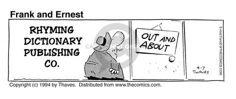 Comic Strip Bob Thaves Tom Thaves  Frank and Ernest 1994-04-07 play