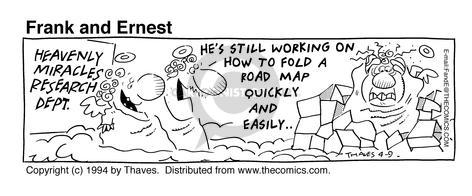 Comic Strip Bob Thaves Tom Thaves  Frank and Ernest 1994-04-09 department