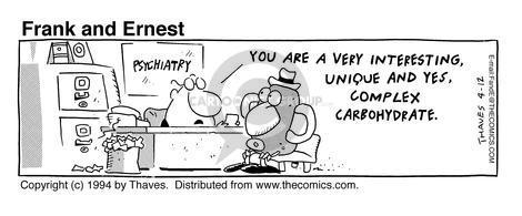 Comic Strip Bob Thaves Tom Thaves  Frank and Ernest 1994-04-12 vegetable