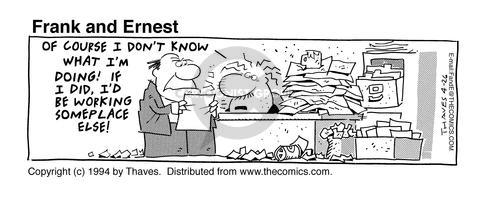 Comic Strip Bob Thaves Tom Thaves  Frank and Ernest 1994-04-26 employee