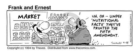 Comic Strip Bob Thaves Tom Thaves  Frank and Ernest 1994-04-28 food label