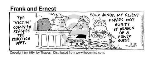Comic Strip Bob Thaves Tom Thaves  Frank and Ernest 1994-04-29 defendant