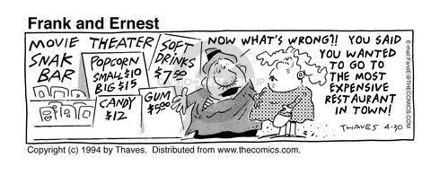 Comic Strip Bob Thaves Tom Thaves  Frank and Ernest 1994-04-30 $12