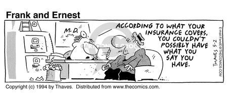 Comic Strip Bob Thaves Tom Thaves  Frank and Ernest 1994-05-02 coverage