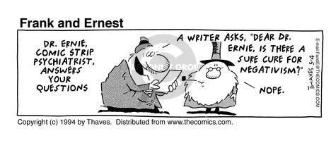 Comic Strip Bob Thaves Tom Thaves  Frank and Ernest 1994-05-04 letter