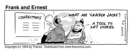 Comic Strip Bob Thaves Tom Thaves  Frank and Ernest 1994-05-06 Jack
