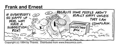 Comic Strip Bob Thaves Tom Thaves  Frank and Ernest 1994-05-12 unless