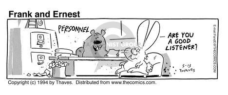 Comic Strip Bob Thaves Tom Thaves  Frank and Ernest 1994-05-13 employee