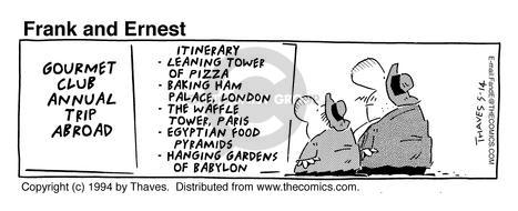 Comic Strip Bob Thaves Tom Thaves  Frank and Ernest 1994-05-14 food pyramid