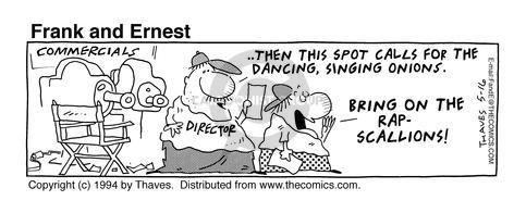 Comic Strip Bob Thaves Tom Thaves  Frank and Ernest 1994-05-16 dance