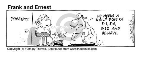 Cartoonist Bob Thaves Tom Thaves  Frank and Ernest 1994-05-25 bad boy