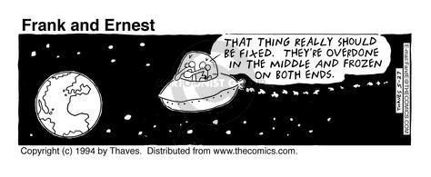Comic Strip Bob Thaves Tom Thaves  Frank and Ernest 1994-05-27 traveler