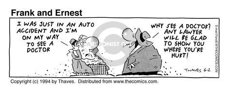 Comic Strip Bob Thaves Tom Thaves  Frank and Ernest 1994-06-02 auto