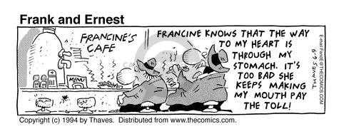 Cartoonist Bob Thaves Tom Thaves  Frank and Ernest 1994-06-09 counter