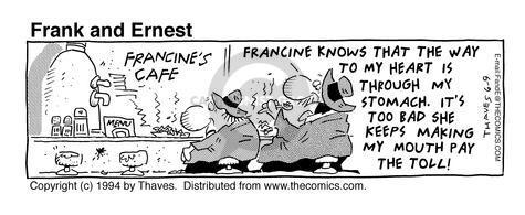 Comic Strip Bob Thaves Tom Thaves  Frank and Ernest 1994-06-09 taste