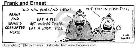Comic Strip Bob Thaves Tom Thaves  Frank and Ernest 1994-06-10 eat