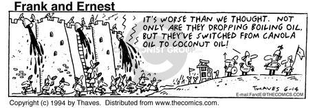 Comic Strip Bob Thaves Tom Thaves  Frank and Ernest 1994-06-13 reality