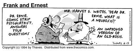 Cartoonist Bob Thaves Tom Thaves  Frank and Ernest 1994-06-14 fat
