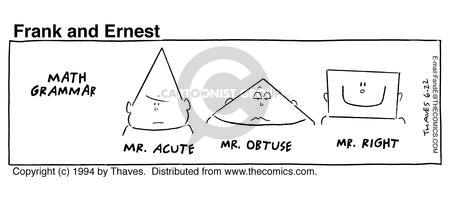 Comic Strip Bob Thaves Tom Thaves  Frank and Ernest 1994-06-22 right angle