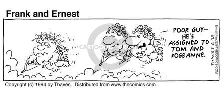 Cartoonist Bob Thaves Tom Thaves  Frank and Ernest 1994-06-23 cupid