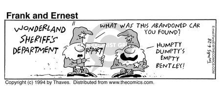 Comic Strip Bob Thaves Tom Thaves  Frank and Ernest 1994-06-28 department