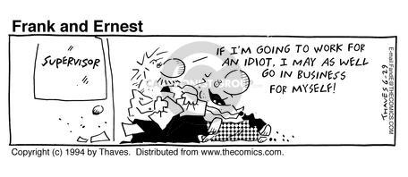 Comic Strip Bob Thaves Tom Thaves  Frank and Ernest 1994-06-29 employ