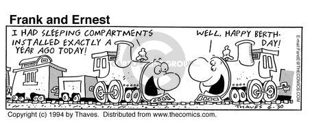 Cartoonist Bob Thaves Tom Thaves  Frank and Ernest 1994-06-30 compartment