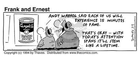 Comic Strip Bob Thaves Tom Thaves  Frank and Ernest 1994-07-05 life change